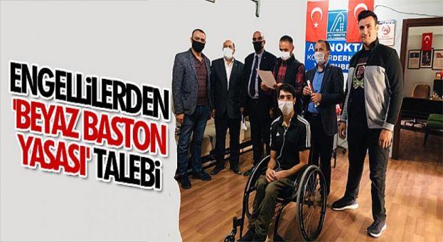 Engellilerden 'beyaz baston yasası' talebi