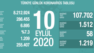 Türkiye'de 58 kişi koronavirüsten hayatını kaybetti