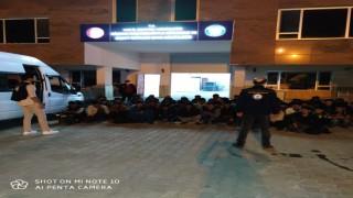 Van'da 20 kişilik minibüsten 63 kişi çıktı