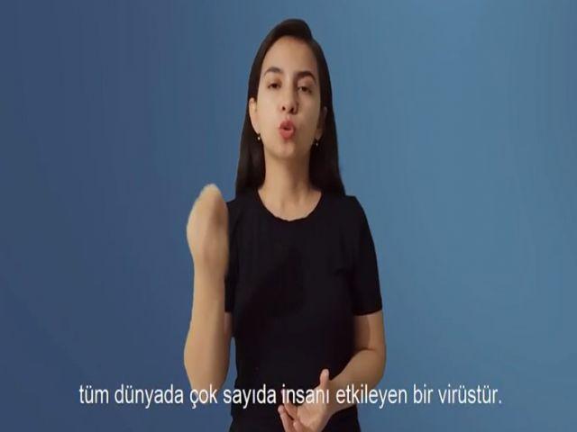 İşitme engelliler için koronavirüs videosu hazırlandı